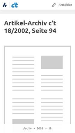 Vorschau der mobilen Webseite www.heise.de, c't - DivX im Griff