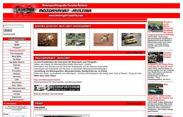 Vorschau von www.motorsport-austria.com, Motorsport Austria