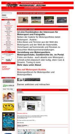 Vorschau der mobilen Webseite www.motorsport-austria.com, Motorsport Austria