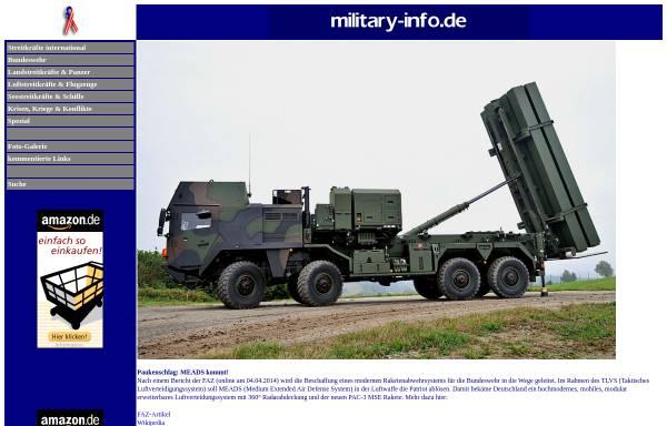 Vorschau von www.military-info.de, Military Info