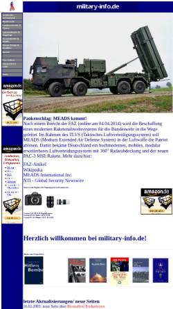 Vorschau der mobilen Webseite www.military-info.de, Military Info